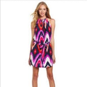 Alice and Trixie pink ikat dress